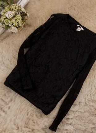 Очень качественная стильная блуза свитшот топ от h&m рр 10 наш 44