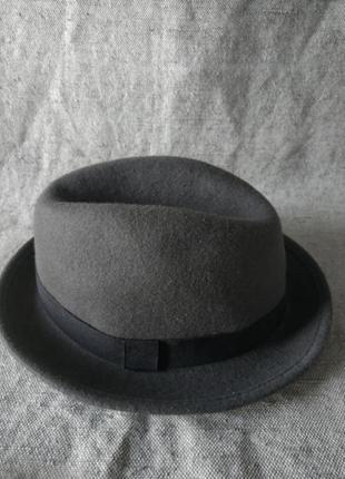 Фетровая шляпа федора трибли. шерсть. topman