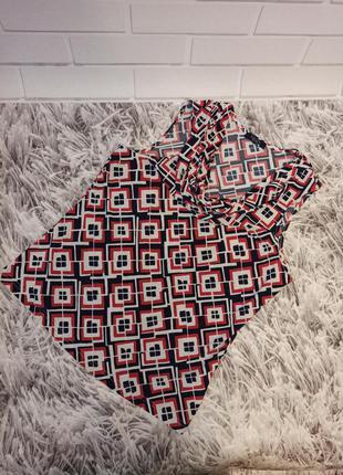 Женская футболка в геометрический принт, женская блуза в ромбы
