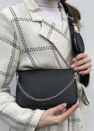 Сумка жіноча чорна, женская сумочка