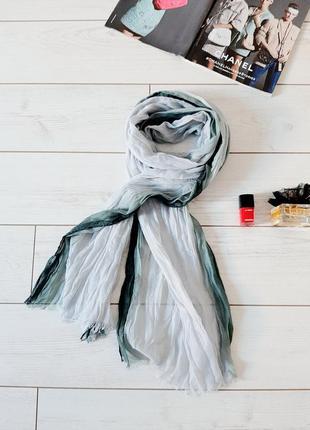 Стильный легкий шарф _codello_ с переходным цветом омбре