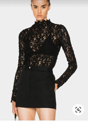 Блузка блуза ажурная прозрачная кружевная кружево черная нарядная