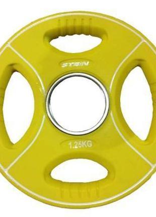Диск для штанги stein полиуретановый 1,25 кг (db6092-1.25)