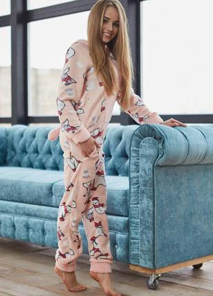 Пижама-комбинезон с кармашком на попе - попожама