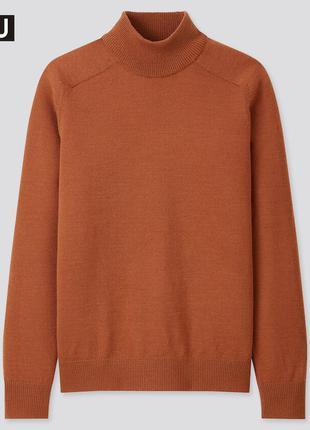 Джемпер свитер гольф водолазка кофта смесовая шерсть uniqlo юникло уникло дизайнерская коллекция u