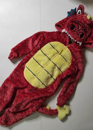 Очень теплый слип кигуруми дракон динозавр