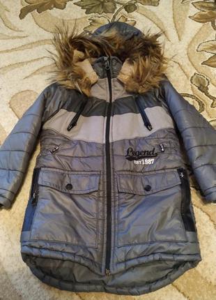Зимнее пальто для мальчика 5 лет