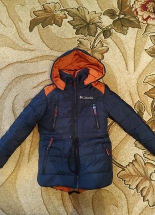 Куртка зимняя для мальчика 4-5 лет