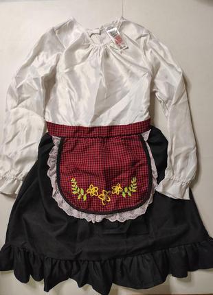 Платье карнавальное фермерша красная шапочка