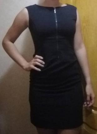 Платье с молнией спереди