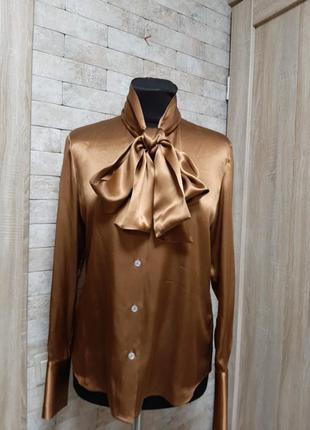 Жемчужная блуза из шёлка