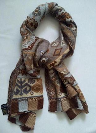 Шаль шерстяна basta cosi італія оригінал тканий шарф накидка +300 шарфів на сторінці