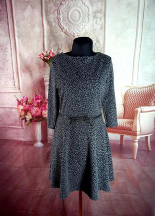 Стильное осеннее платье трикотаж