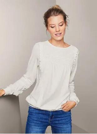 Блузка блуза трикотажная с шитьем размер 42-46 наш tchibo тсм