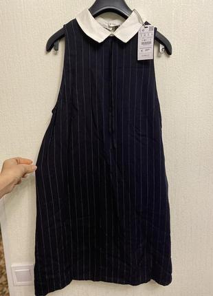 Платье с воротничком pull&bear