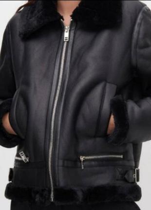 Куртка дубленка пилот