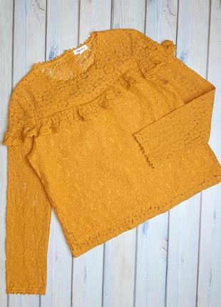 💥1+1=3 шикарная нарядная насыщенно желтая блуза блузка noemi&co, размер 46 - 48