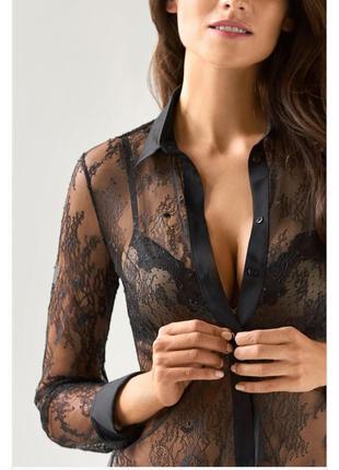 Ажурная рубашка-блуза