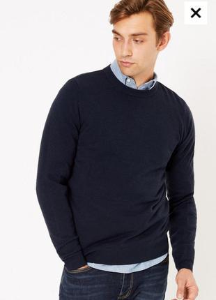 Чорний теплий джемпер,мужской свитер, теплый джемпер