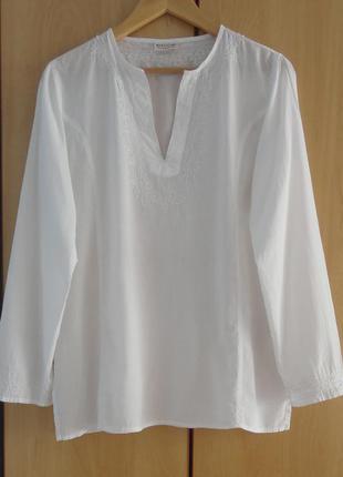 Супер брендовая рубашка туника  блузка хлопок вышивка паетки