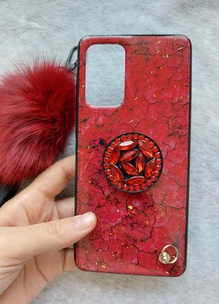 Чехол на самсунг а 72, красивый чехол на телефон, красный чехол