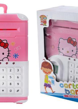 Копилка для детей elite hello kitty детский сейф с кодовым замком