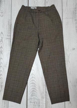 Брюки повседневные, класические штаны в клетку  l