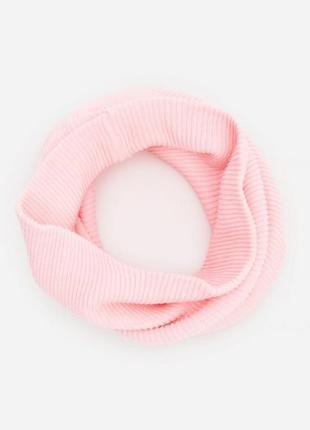 Красивый хлопковый шарф хомут рубчик reserved