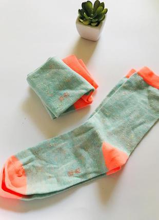 🔥яркие носочки с разноцветным меланжем, германия