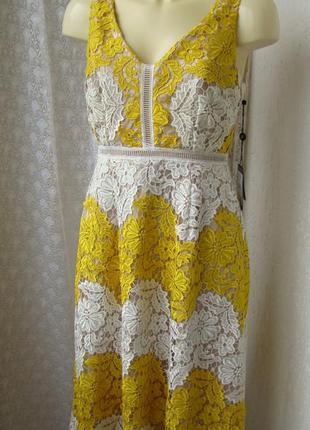 Платье кружевное летнее adrianna papell р.44 7653