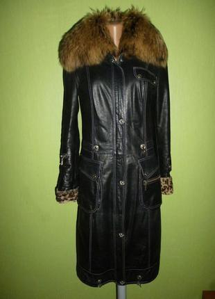 Шикарная натуральная пальто-дубленка
