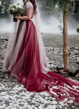 Платье на выпускной или свадьбу ручной работы