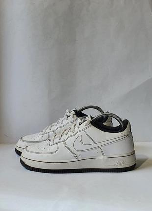 Кроссовки кросівки nike air force 1 low white - black stitch    cw1575-104