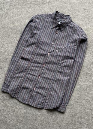 Вінтажна сорочка в полоску armani jeans vintage