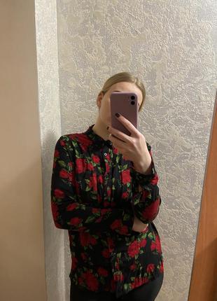 Рубашка в цветочек с-м