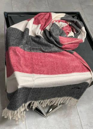 Теплий шерстяний шарф-палантин