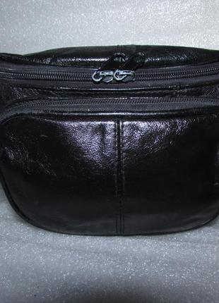 Удобная сумка пояс 100% натуральная кожа (2)