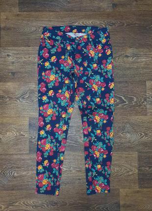 Джинсы скинни в цветак casual clothing