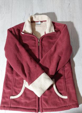 Куртка-кофта флисовая,теплая