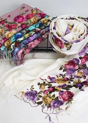 Турецький натуральний шарф-палантин