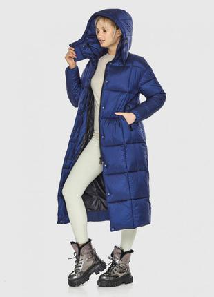 Распродажа синий стильный женский пуховик тм kiro tokao (япония)