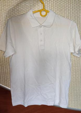 Біла футболка поло, на 12р