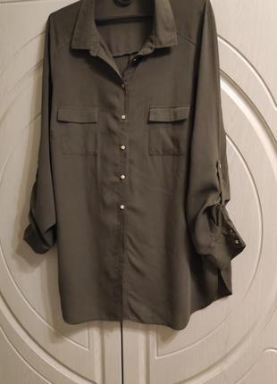 Блуза блузка с длинным рукавом р.54-56/uk20