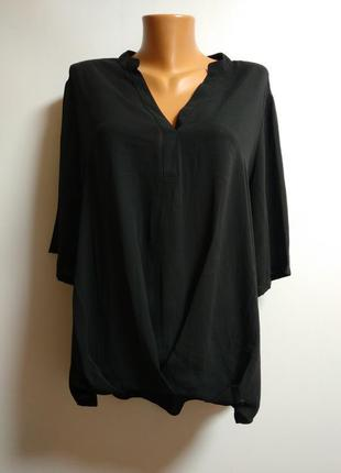 Шифоновая блуза удлиненная спинка 18/52-54 размера