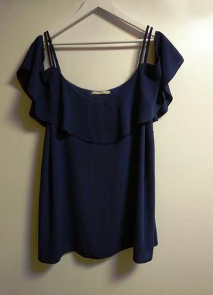Блуза с воланом открытые плечи 22/56-58 размера