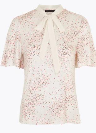 Трикотажная блуза в принт 16/50-52 размера