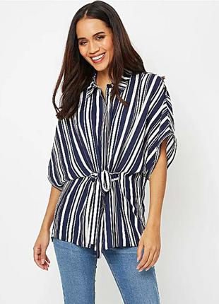 Шикарная блуза кимоно оверсайз в полоску 22/56-58 размера