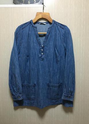 Джинсовая блуза 16 р. 100% хлопок