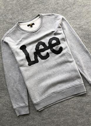 Оригінальний світшот з великим логотипом lee big logo crew neck sweatshirt