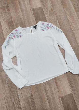 Женская блуза блузка с вышивкой белая вышиванка
